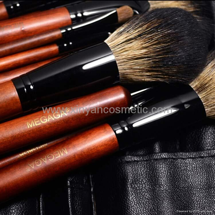 Manufactury Supply Pro12PCS Goat hair sable hair Makeup Brush Set  Can OEM/ODM 8