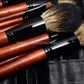 厂家供应12支专业化妆套刷羊毛粉刷黄狼毛眼影刷 PU化妆包 8