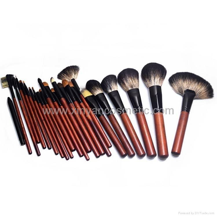 厂家供应12支专业化妆套刷羊毛粉刷黄狼毛眼影刷 PU化妆包 2