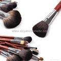 廠家供應專業高檔紅木柄化妝套刷 可定製 6