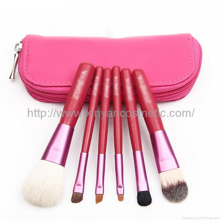 Manufacturer OEM Portable 6 cosmetic brush package set Gift multifunctional sets