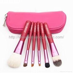 厂家OEM 便携6支化妆刷收纳包套装 礼品多功能化妆刷套装