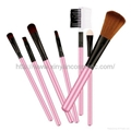 Factory OEM 7 pieces of cosmetic brush+Wallet Custom holiday gift Cosmetic Bag