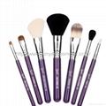 厂家新妍美化妆刷OEM化妆刷多色7支套刷+圆筒盒 6