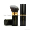 Factory OEM soft shrink type portable multifunction cosmetic brush With a lid
