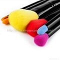 Manufacturer OEM 6 Double head portable color cosmetic brush set