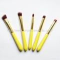 廠家OEM 便攜款可愛黃色9支小蠻腰化妝刷  2