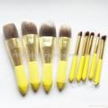 厂家OEM 便携款可爱黄色9支小蛮腰化妆刷  5
