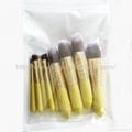 厂家OEM 便携款可爱黄色9支小蛮腰化妆刷  6