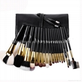 Manufacturer OEM/ODM 18 animal hair professional makeup brush set