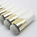 OEM Aluminum tube Flat Wet and dry powder makeup brush Small fat makeup brush