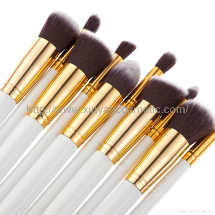 廠家供應10支新款木柄化妝刷 美妝化裝工具 化妝掃套裝 2