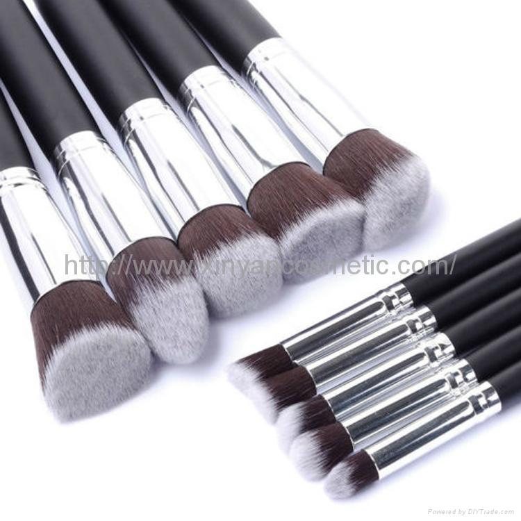 廠家供應10支新款木柄化妝刷 美妝化裝工具 化妝掃套裝 3