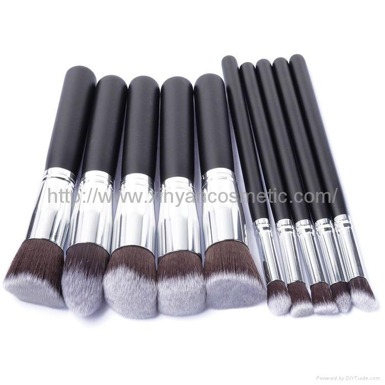 厂家供应10支新款木柄化妆刷 美妆化装工具 化妆扫套装