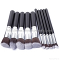 Manufacturers supply 10 wooden handle brush Beauty makeup tool
