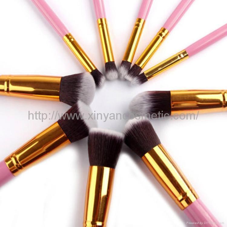 廠家供應10支新款木柄化妝刷 美妝化裝工具 化妝掃套裝 5
