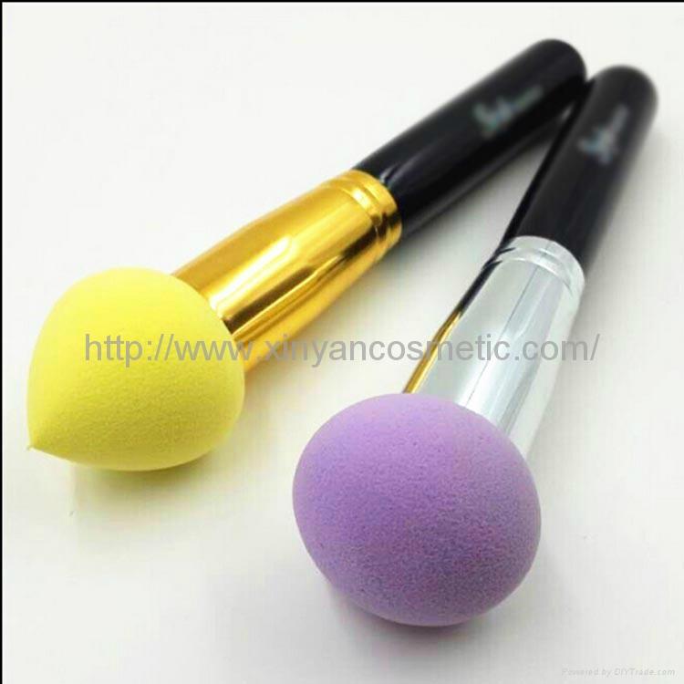 新妍美供应化妆粉扑刷 干湿两用化妆粉扑刷 可来样定制 3