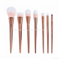 Manufactor OEM Golden Long Handle 6 Top Grade Cosmetic Brush Set