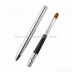 廠家OEM定製銀色火箭筒便攜款唇刷阿里巴巴批發店鋪熱銷款