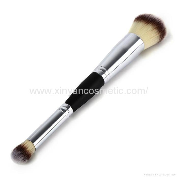 厂家供应木柄进口人造毛畅销眼影刷 礼品化妆刷 4