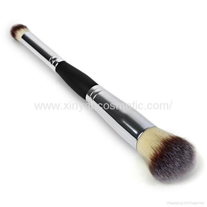 厂家供应木柄进口人造毛畅销眼影刷 礼品化妆刷 5
