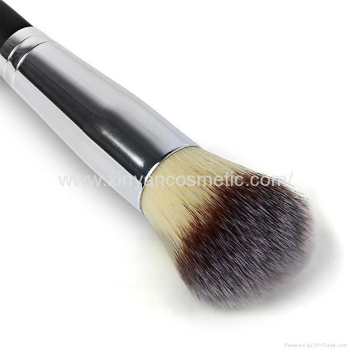 厂家供应木柄进口人造毛畅销眼影刷 礼品化妆刷 7