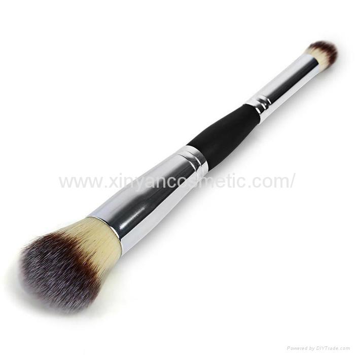 厂家供应木柄进口人造毛畅销眼影刷 礼品化妆刷 8