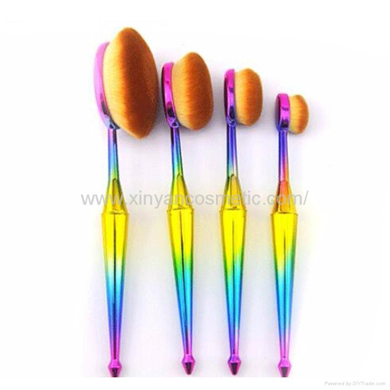 厂家供应美人鱼柄10支多功能化妆刷 美容美妆工具 化妆套扫 3
