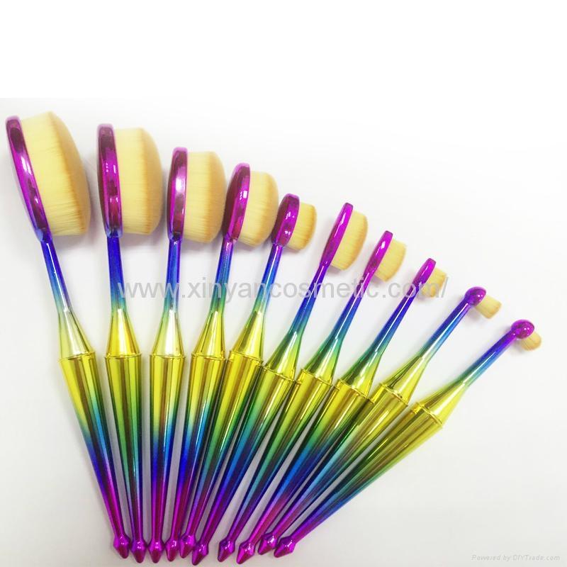 厂家供应美人鱼柄10支多功能化妆刷 美容美妆工具 化妆套扫 4