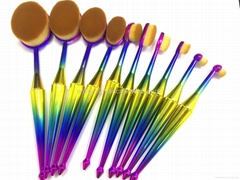 Manufacturer supply Mermaid handle 10 Multi-function beauty tools Makeup brush