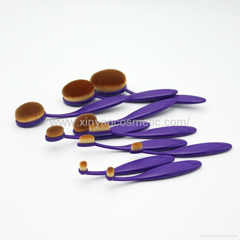 厂家供应10支牙刷型多功能化妆刷 新妍美化妆刷 美容美妆化妆扫 2