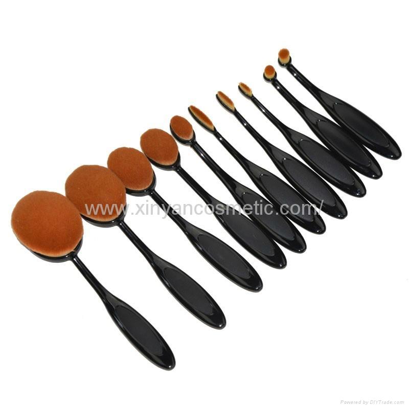 廠家供應10支牙刷型多功能化妝刷 新妍美化妝刷 美容美妝化妝掃 3
