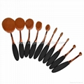 Manufacturer supply 10 in 1 brush type Multifunctional cosmetic brush beauty