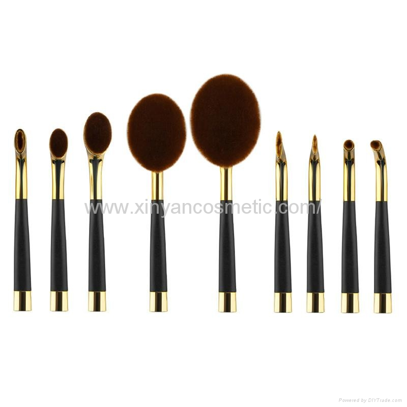 廠家供應高爾夫柄9支多功能化妝刷 美容美妝工具 化妝套掃 3