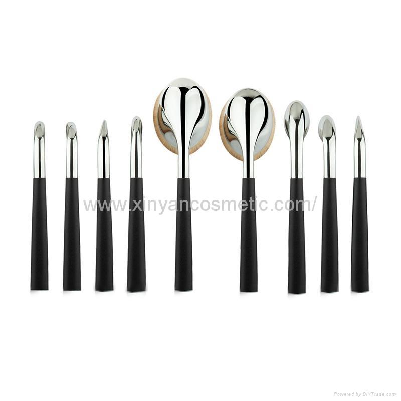 廠家供應高爾夫柄9支多功能化妝刷 美容美妝工具 化妝套掃 4