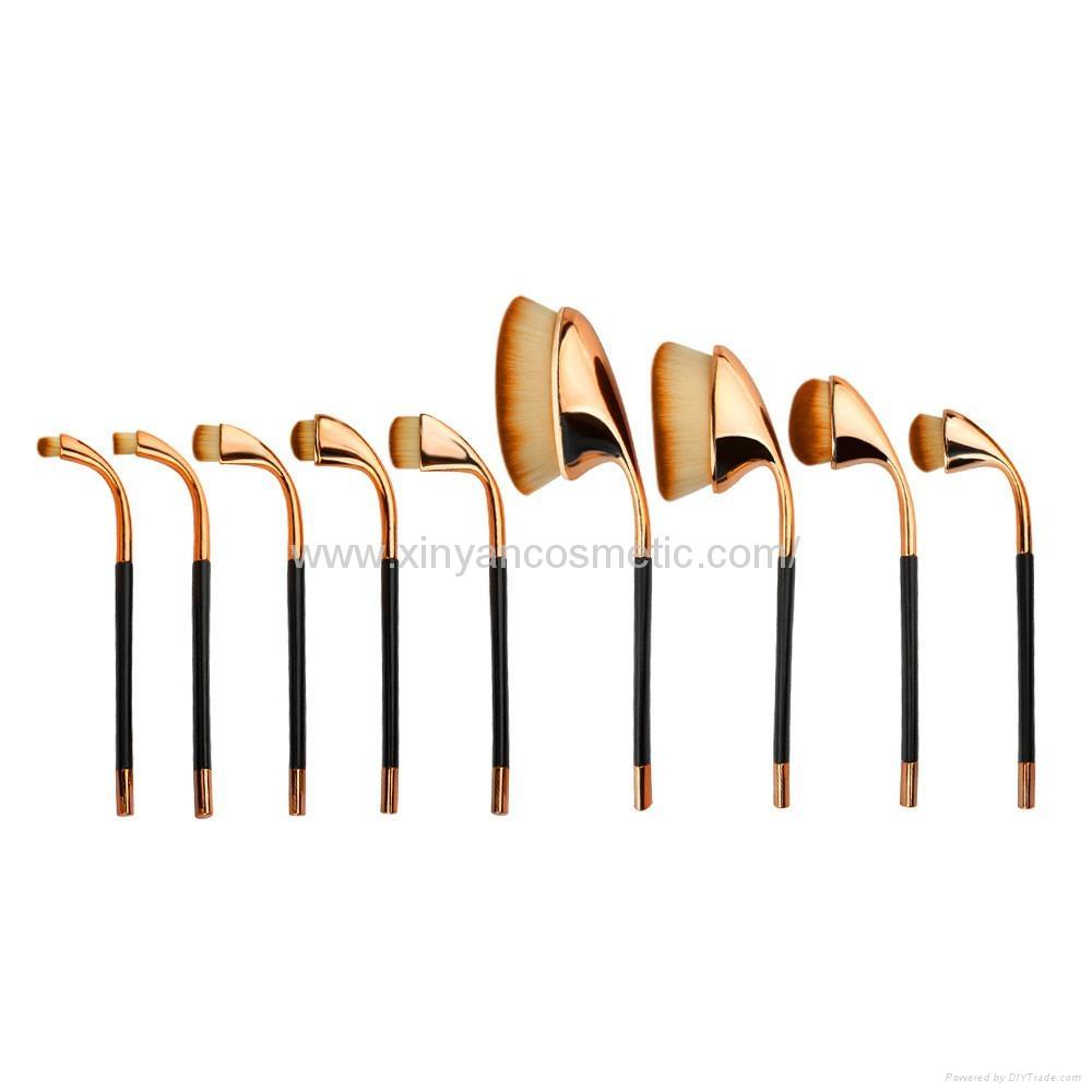 廠家供應高爾夫柄9支多功能化妝刷 美容美妝工具 化妝套掃 6