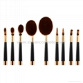 Manufacturer supply Golf handle 9 in 1 cosmetic brush Beauty beauty tools