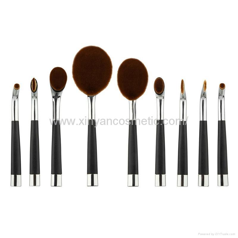 廠家供應高爾夫柄9支多功能化妝刷 美容美妝工具 化妝套掃 9