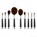 厂家供应高尔夫柄9支多功能化妆刷 美容美妆工具 化妆套扫 9