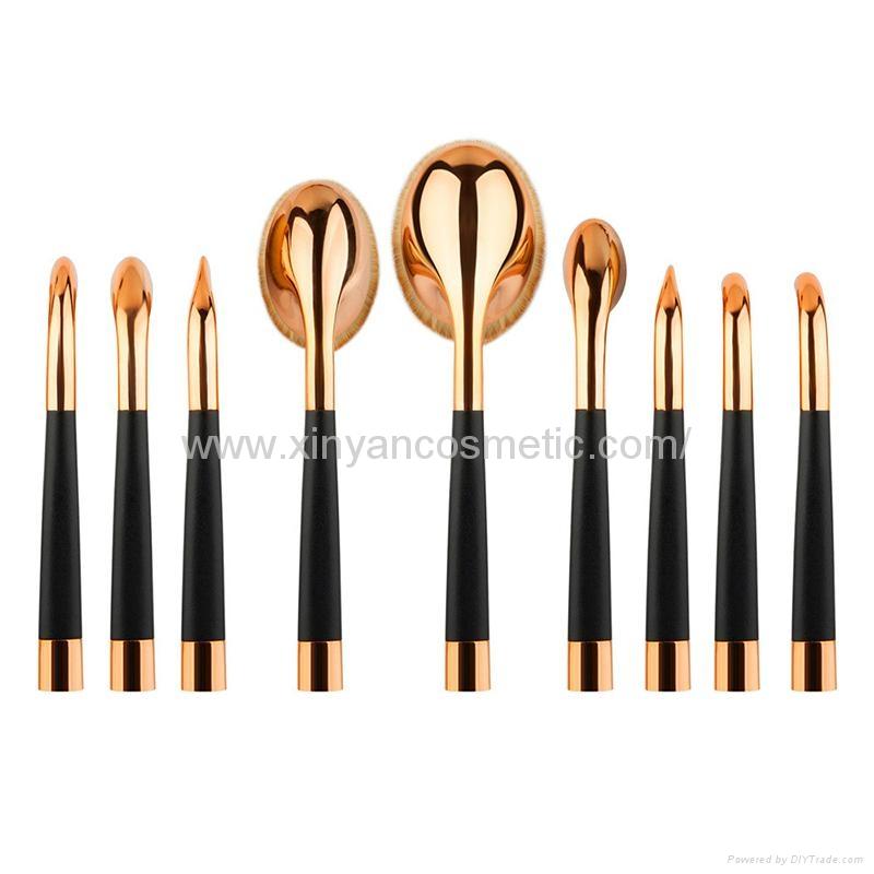 廠家供應高爾夫柄9支多功能化妝刷 美容美妝工具 化妝套掃 10