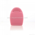 Manufacturer supply Multicolor Plastic Brushegg Cosmetic brush cleaning tool