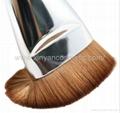 厂家供应黑色木柄人造纤维单支化妆刷粉底刷 化妆扫 美容美妆工具 2