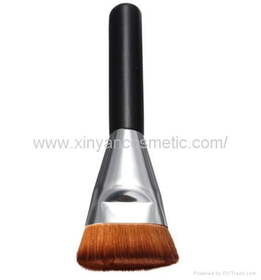 厂家供应黑色木柄人造纤维单支化妆刷粉底刷 化妆扫 美容美妆工具 3