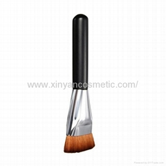厂家供应黑色木柄人造纤维单支化妆刷粉底刷 化妆扫 美容美妆工具