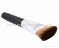 厂家供应黑色木柄人造纤维单支化妆刷粉底刷 化妆扫 美容美妆工具 4