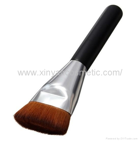 厂家供应黑色木柄人造纤维单支化妆刷粉底刷 化妆扫 美容美妆工具 5
