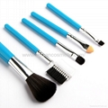 Manufacturer supply Wooden handle Artificial wool 5 in 1 Gift set brush