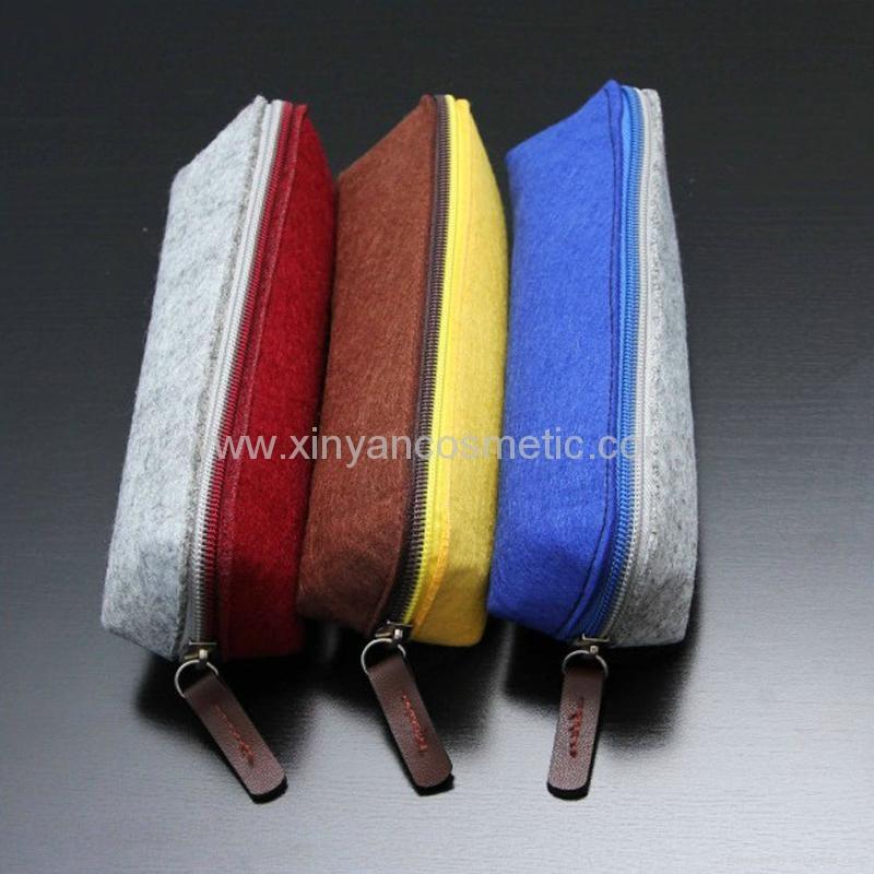 新妍美供应羊毛毡创意简约多功能收纳袋化妆包 美容美妆工具 1