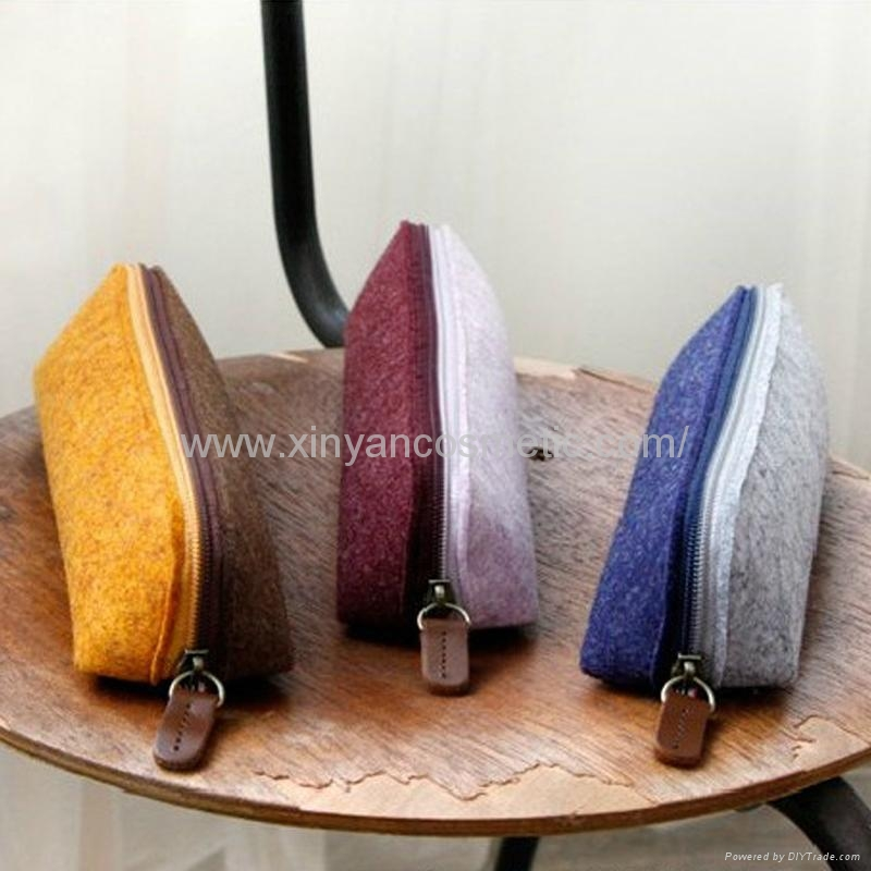 新妍美供應羊毛氈創意簡約多功能收納袋化妝包 美容美妝工具 4