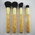 厂家供应高档精美亚克力柄碎金粉四支套刷  美容美妆化妆扫 3